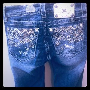 Miss Me Distressed Bling Jeans